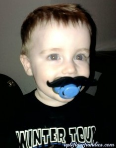 Baby Boy Mustache Pacifer