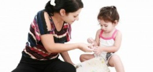 Mom Using Play Therapy to Teach Child Manners