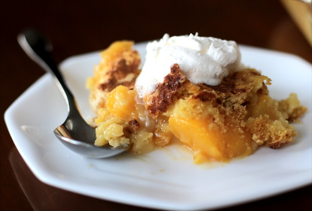 Fresh Peach Cobbler With Cake Mix And Sprite