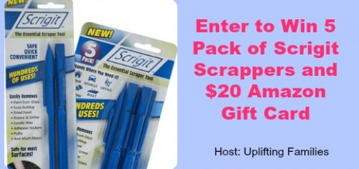 5 Pack Scrigit Scrappers and 20 Amazon Gift Card Giveaway