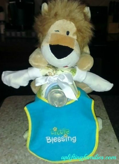 Motorcycle Diaper Cake Lion
