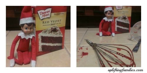 Elf on the Shelf Ideas Cake
