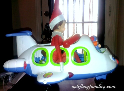 Rascal Elf on the Shelf Going on an Airplane Ride