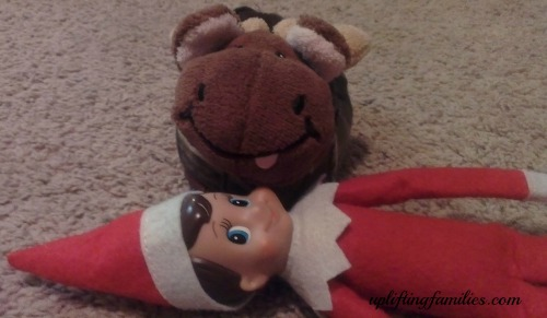 Rascal Elf on the Shelf Got Run Over By A Moose