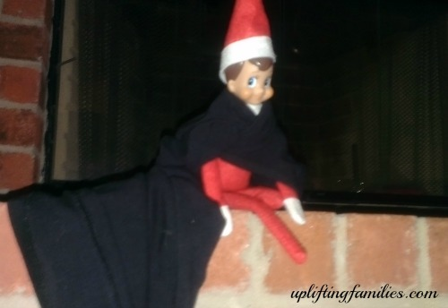 Rascal Elf on the Shelf Super Hero