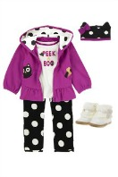 Polka Dot Kitty Outfit for Girls