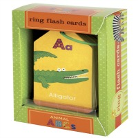 Muddpuppy Ring Flash Cards ABC Animals