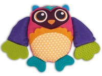 Purple Owl Teething Rattle