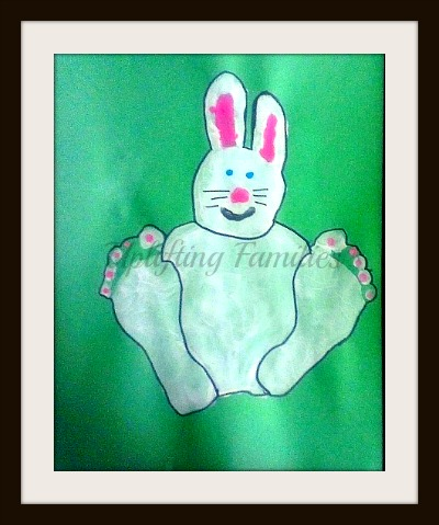 Hand and Foot Print Bunny Craft