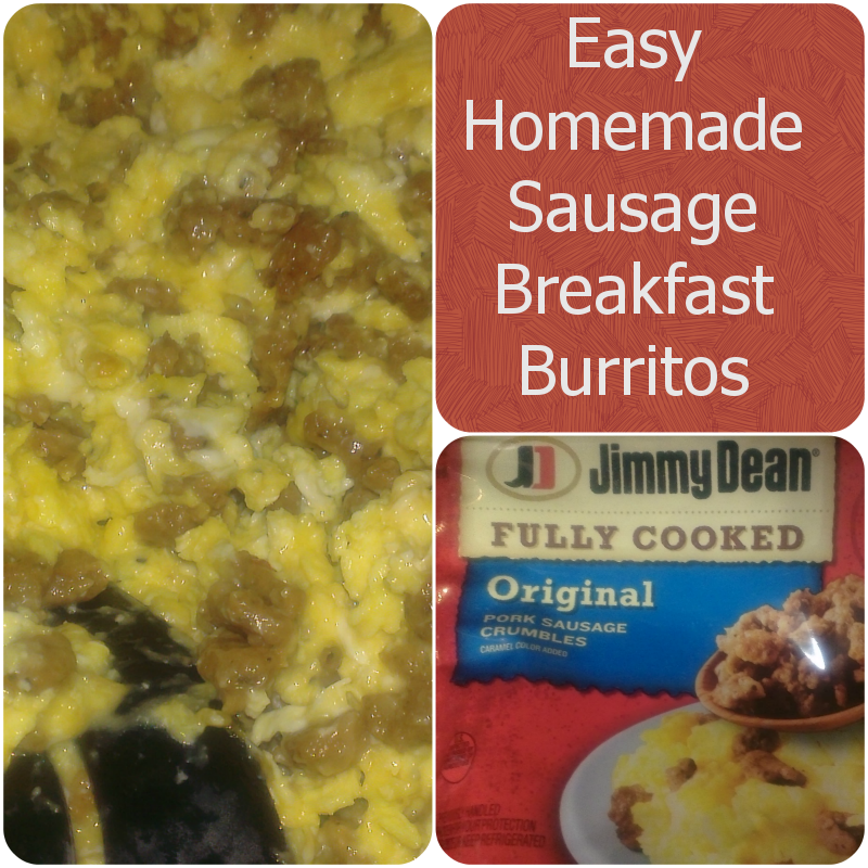 Easy Homemade Sausage Breakfast Burritos