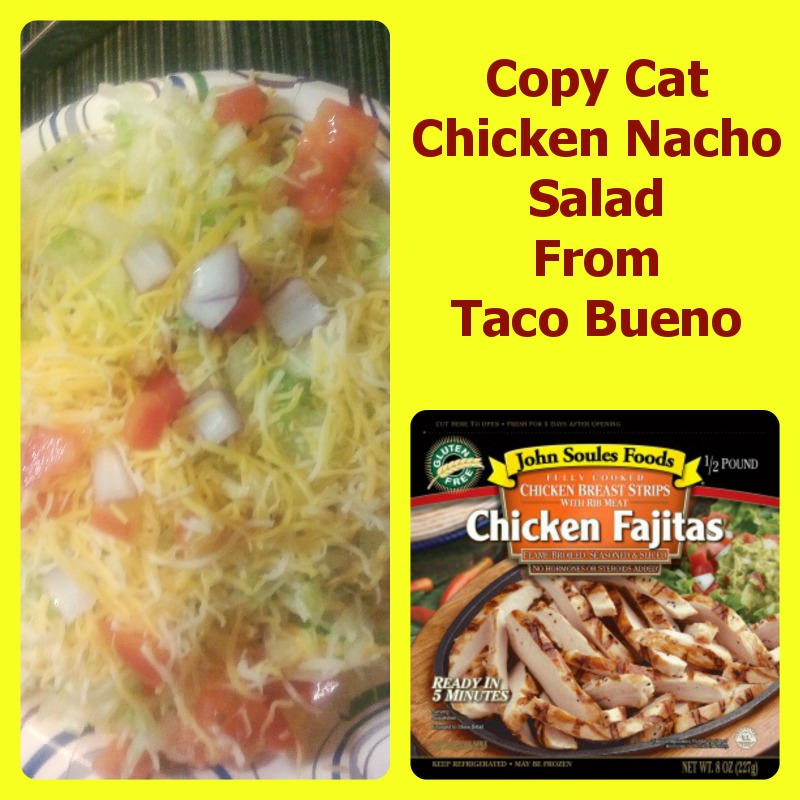 Copy Cat Chicken Nacho Salad From Taco Bueno