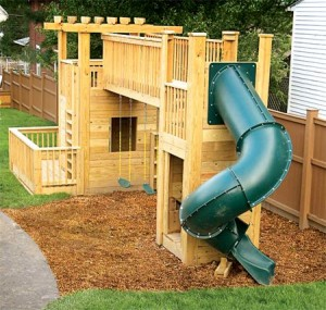 Playground in Backyard