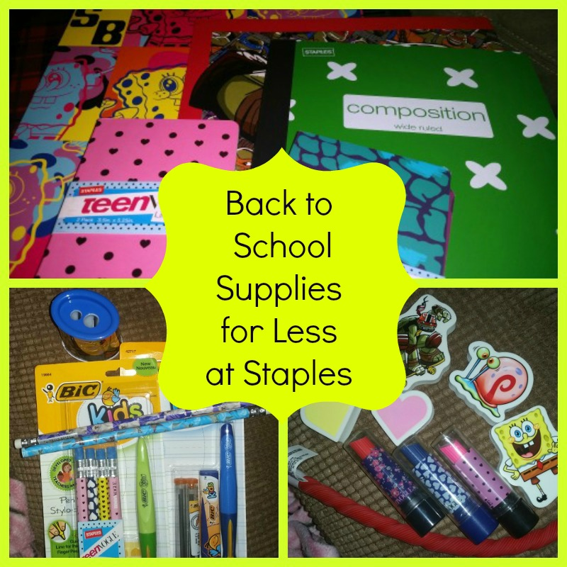 Back to School Supplies for Less at Staples