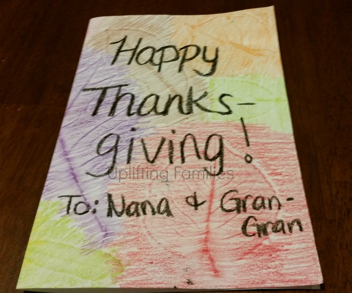 DIY Thanksgiving Textured Leaf Cards