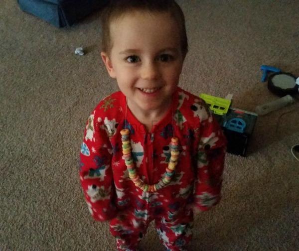 Elf on Shelf Made Edible Necklace