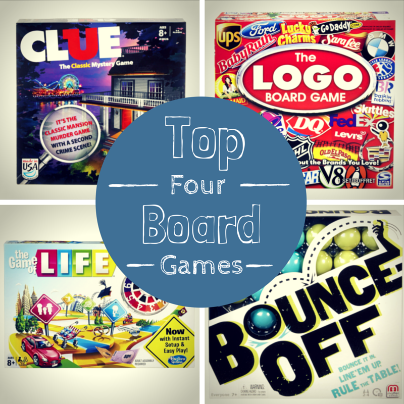 Top Four Board Games Age 7 Years and Older
