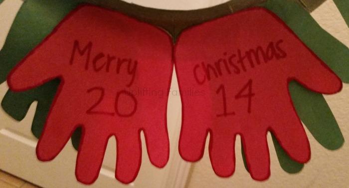 DIY Christmas Hand Print Wreath