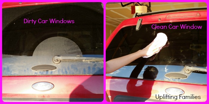 Clean Dirty Car Windows with Poise Pads