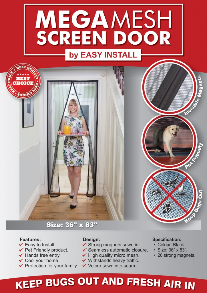 Mega Mesh Screen Door
