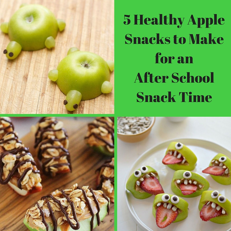 5 Healthy Apple Snacks to Make for an After School Snack Time
