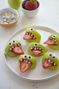 Silly Monster Apple Bites