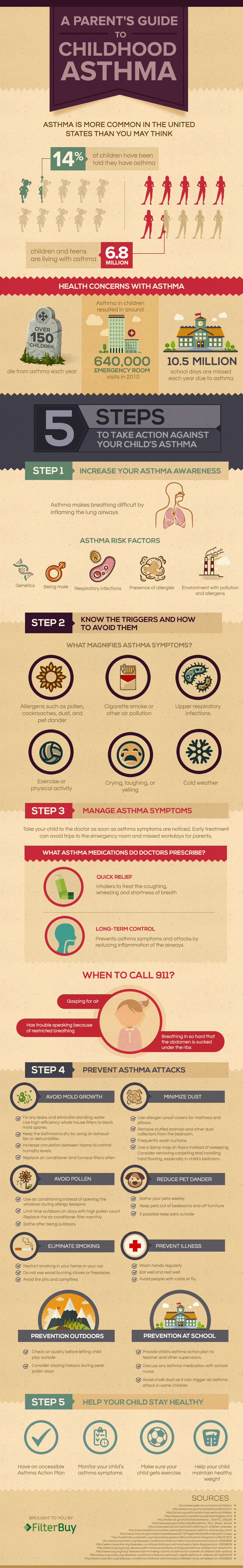 Childhood Asthma Inforgraphic