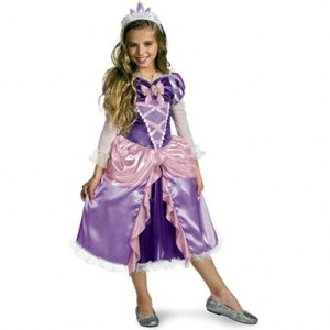 Tangled Disney Rapunzul Princess Halloween Costumes for Girls