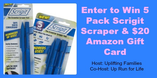 Win 5 Pack Scrigit Scraper and 20 Amazon Gift Card