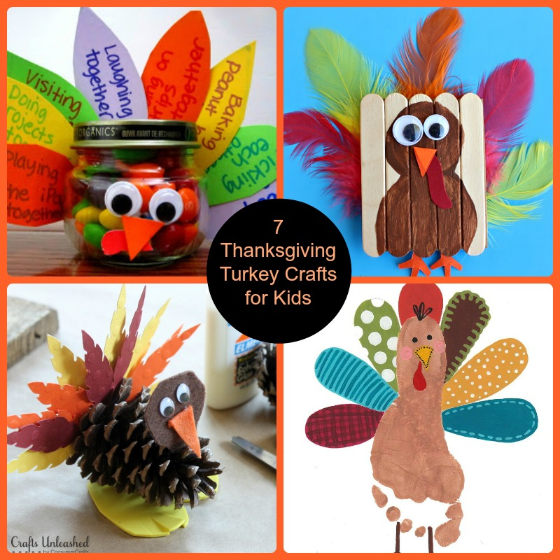 7 Thanksgiving Turkey Crafts for Kids