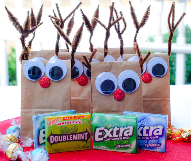 DIY Reindeer Treat Bags