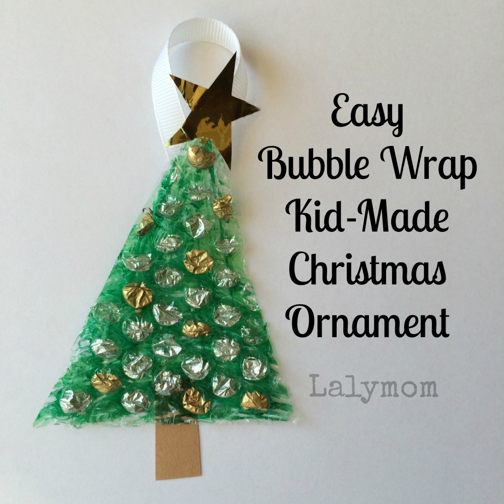 Easy Bubble Wrap Christmas Tree